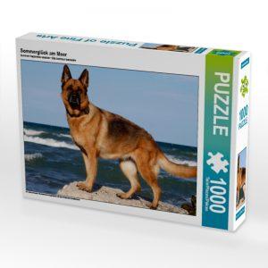 """Geschenke für Hundehalter: Puzzle """"Sommerglück am Meer"""""""