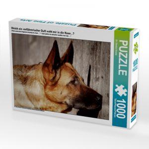 """Geschenke für Hundehalter: Puzzle """"Welch ein verführerischer Duft weht mir in die Nase…?"""""""